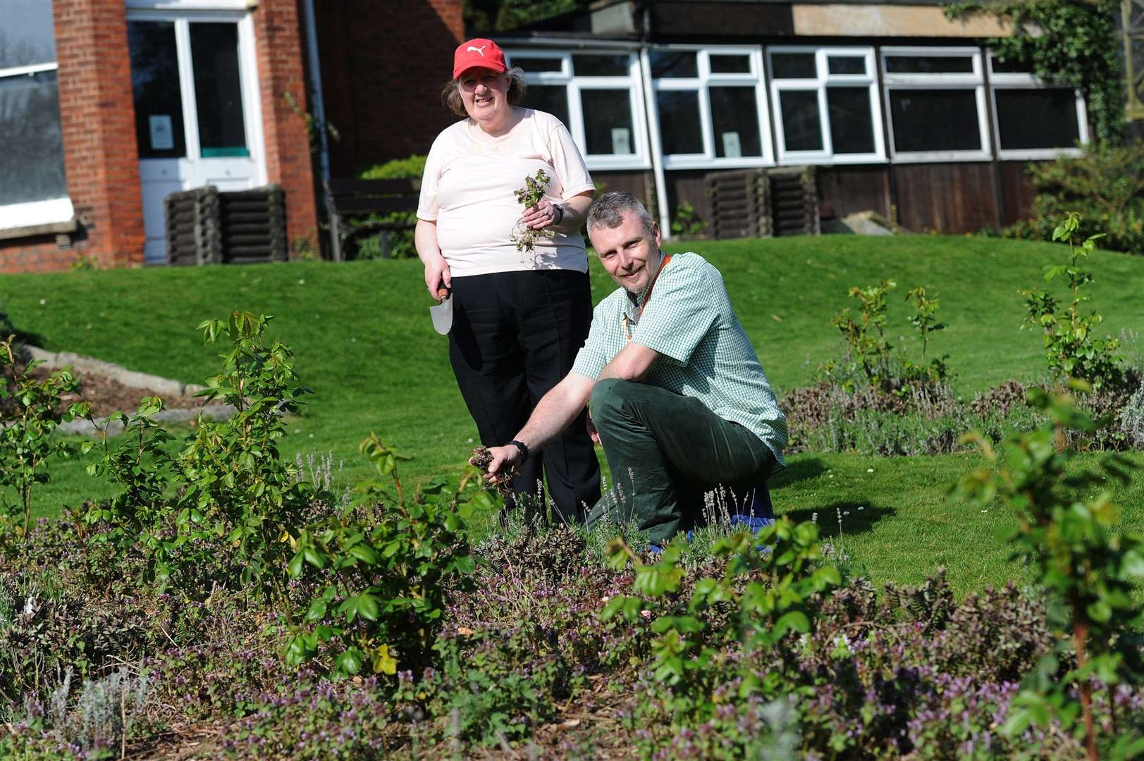 ActivLives are starting community gardening at Belle Vue Park in Sudbury...Pictured: Susan Fuller from the Bridge Project and Dan Wheals from ActivLives...PICTURE: Mecha Morton. (14855339)