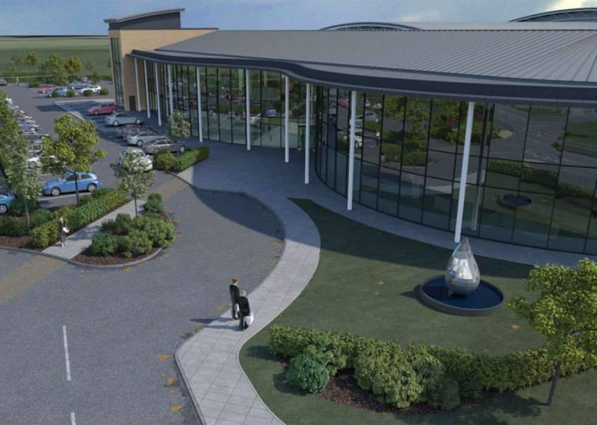 An image of how the newsite for Treatt plc will look at Suffolk Business Park