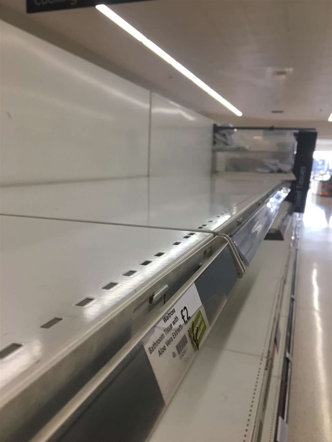 These were the shelves at Waitrose, Bury St Edmunds, at 7.40 this morning