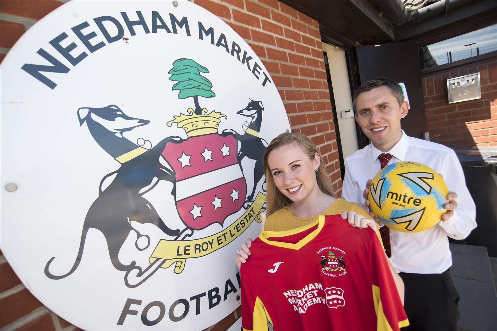 EXCITING START: New women's player-manager Freya Louis with academy director Robert Peace