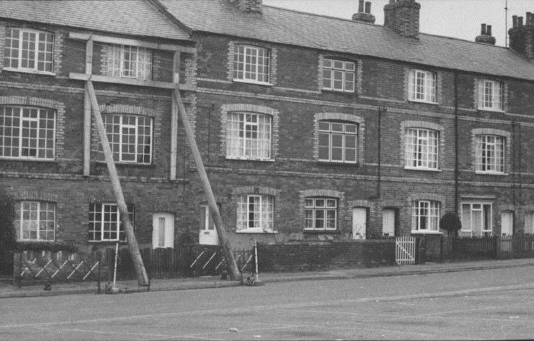 Inkerman Row in Sudbury, which was demolished in the 1970s Picture: Sudbury Photo Archive