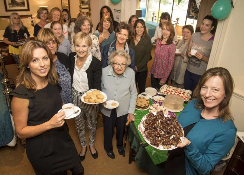 Macmillan coffee morning at And So To Bed, Bury, with Joanne Van Der Heijden, Tessa Walton and Joy Stevens