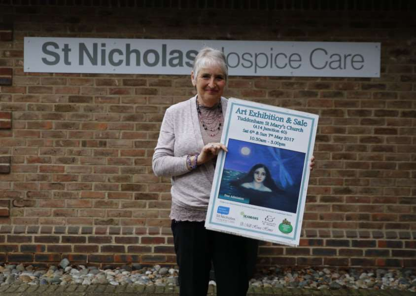 Celia Gordon, who volunteers for the hospice, is helping to organise a fund-raising art exhibition