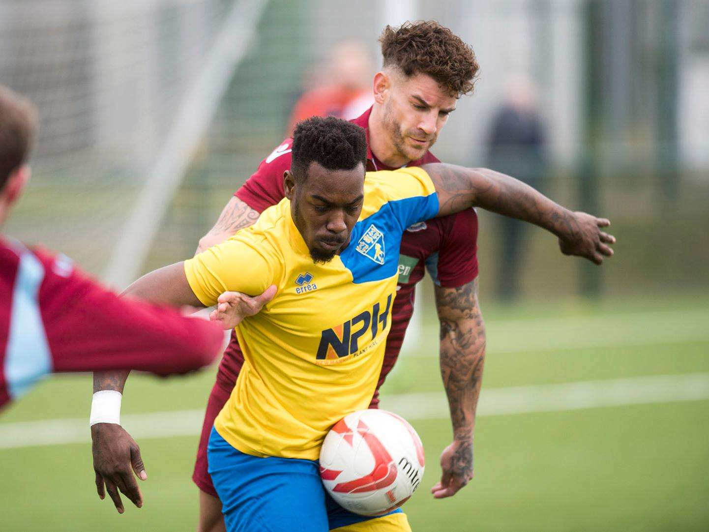 ON TARGET: New striker Leon Antoine earned Newmarket a point. Picture: Mark Westley