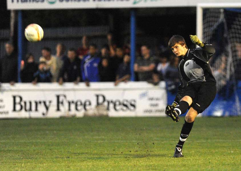 RAPID RISE: Nick Pope, pictured playing in his Bury Town days