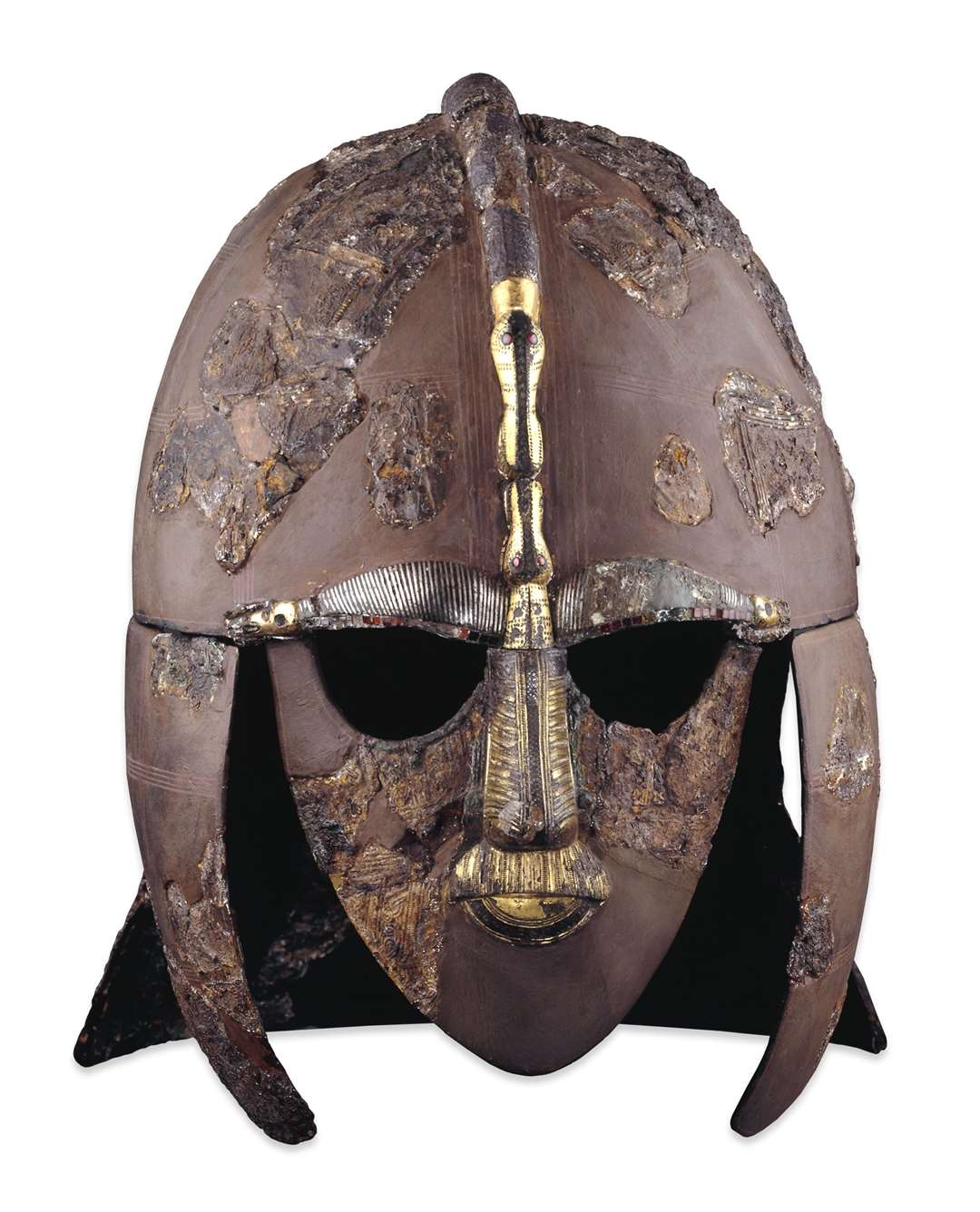 The reconstructed helmet that has become the most iconic image of Sutton Hoo. Picture:British Museum