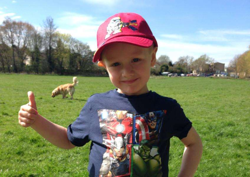 Oliver Turner, aged four, who has been diagnosed with Wilmes tumours