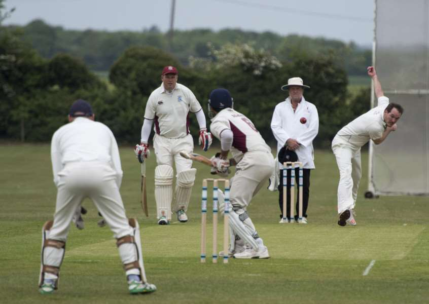 WICKET HUNTING: Fordham's Chris Reay goes in search of another wicket