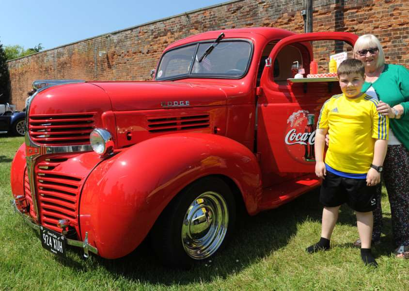 Shirley Letchworth and Lance Wickert with a 1947 Dodge pickup ANL-160606-092301009