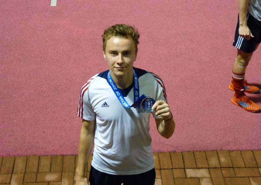 GREAT RESULT: Alex Blumfield with his silver medal