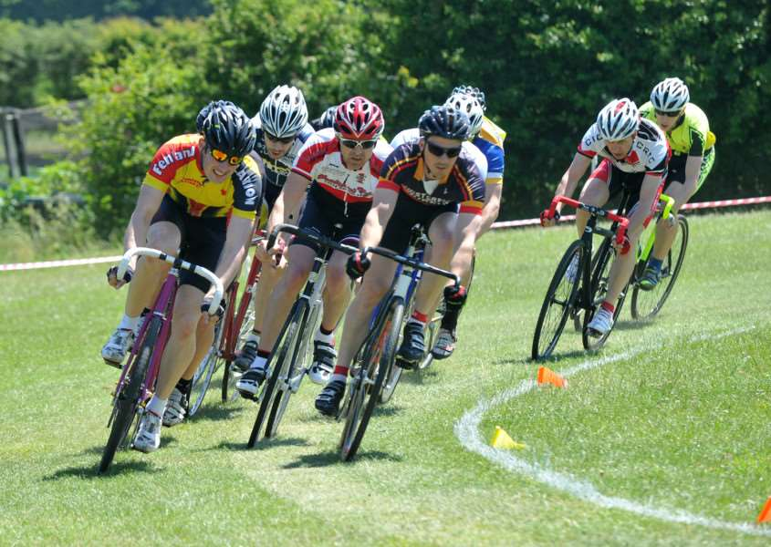 WHEEL-TO-WHEEL: Action from West Suffolk Wheelers and Traithlon Club's annual grass track event, held at Fordham All Saints