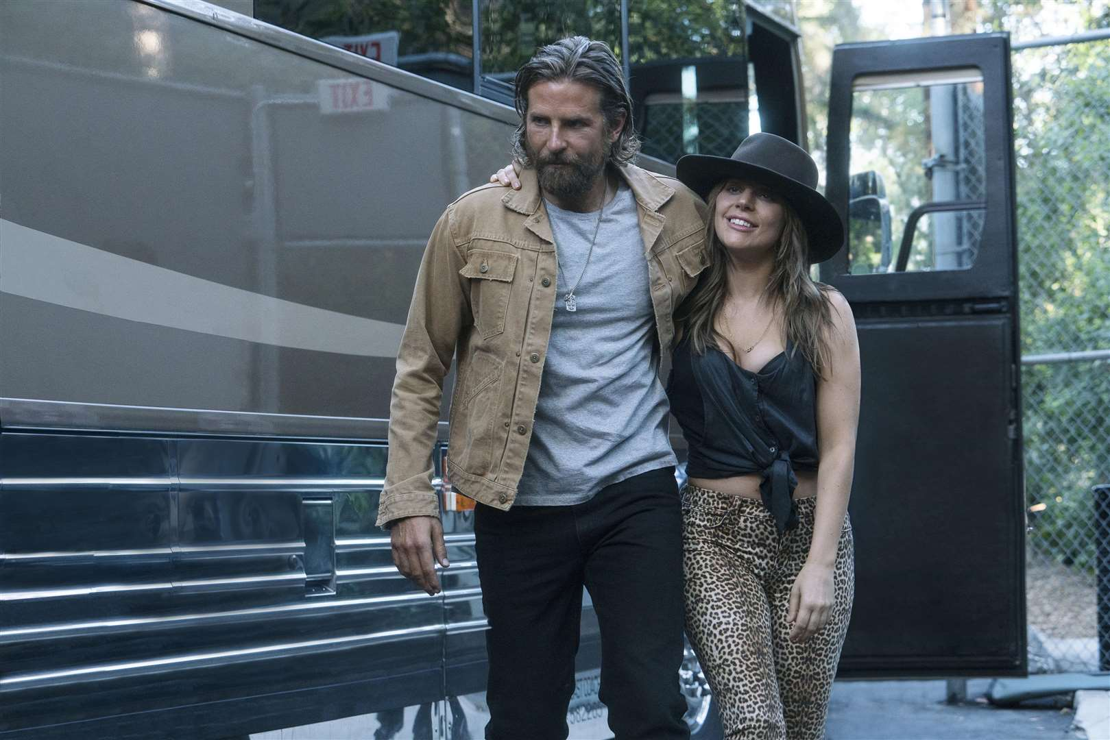 Bradley Cooper as Jackson Maine and Lady Gaga as Ally in A Star is Born. PA Photo/Warner Bros. Entertainment Inc./Clay Enos.