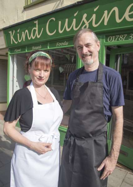 Linda Gregory and partner Mark Sutcliffe who are opening of new vegetarian restaurant'Kind Cuisine, 11a Friars Street, Sudbury''Picture Mark Westley ANL-160913-205259009