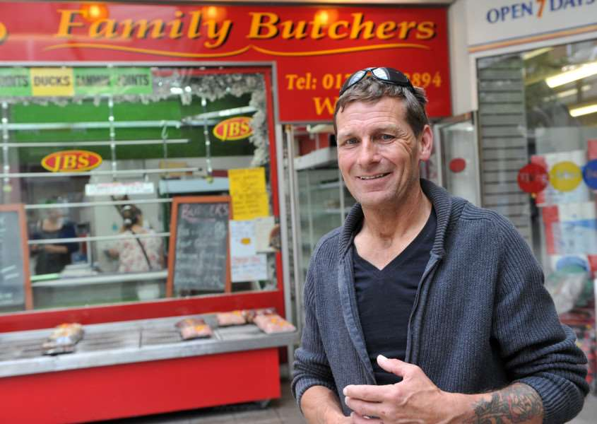 JBS Family Butchers is reopening Pictured: John Sawyer ANL-150707-153737009