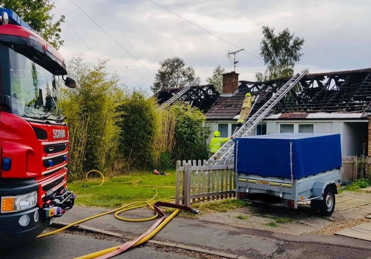 Firefighters in Soham's Queensway Picture: Cambridgeshire Fire and Rescue (34913685)