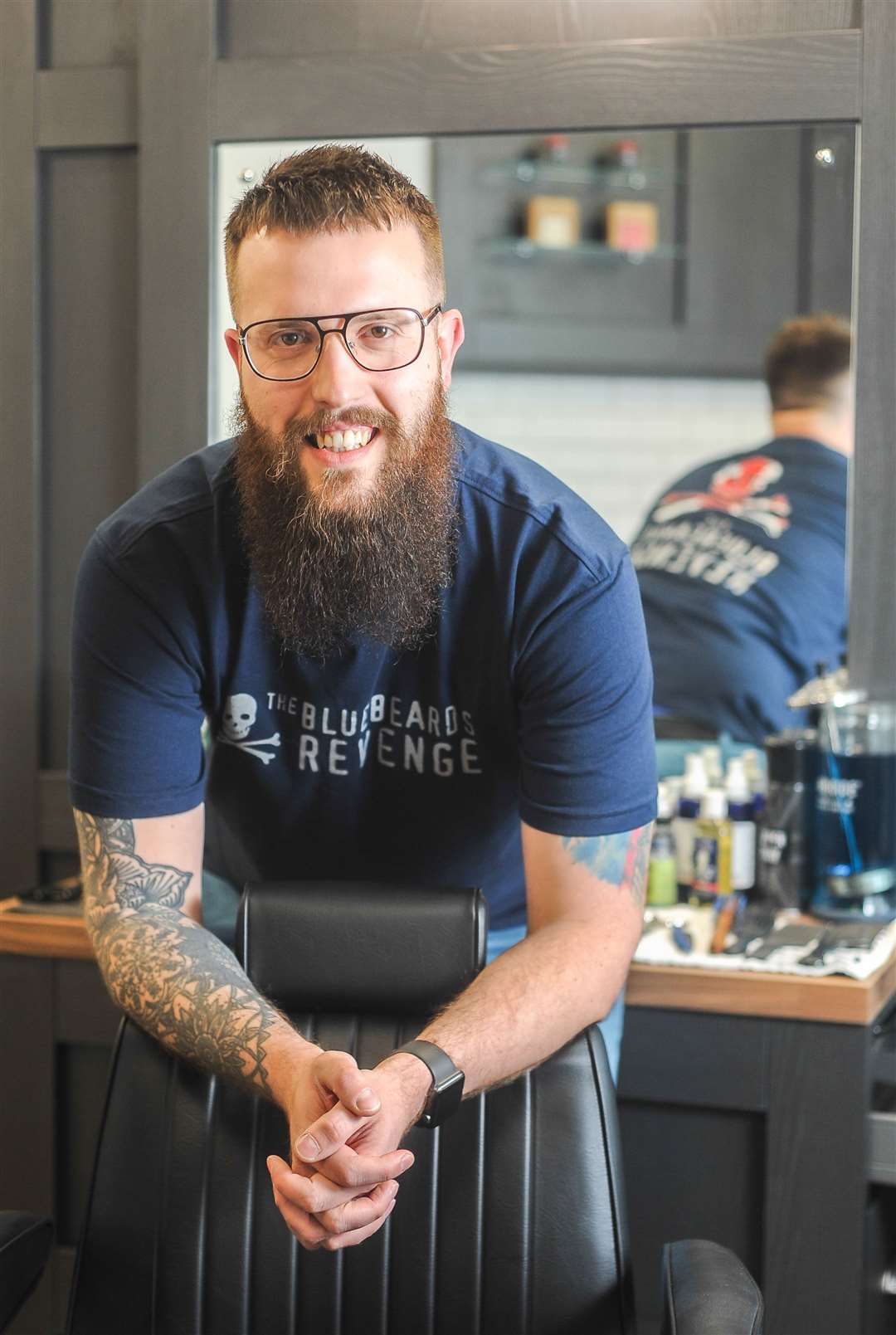 Barber Ken Hermes has teamed up with a mental health charity in a bid to prevent male suicide. (12147173)