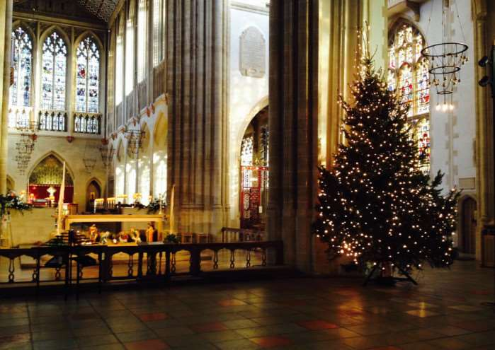 Christmas Day in St Edmundsbury Cathedral by Valda Fisher ANL-150601-134316001