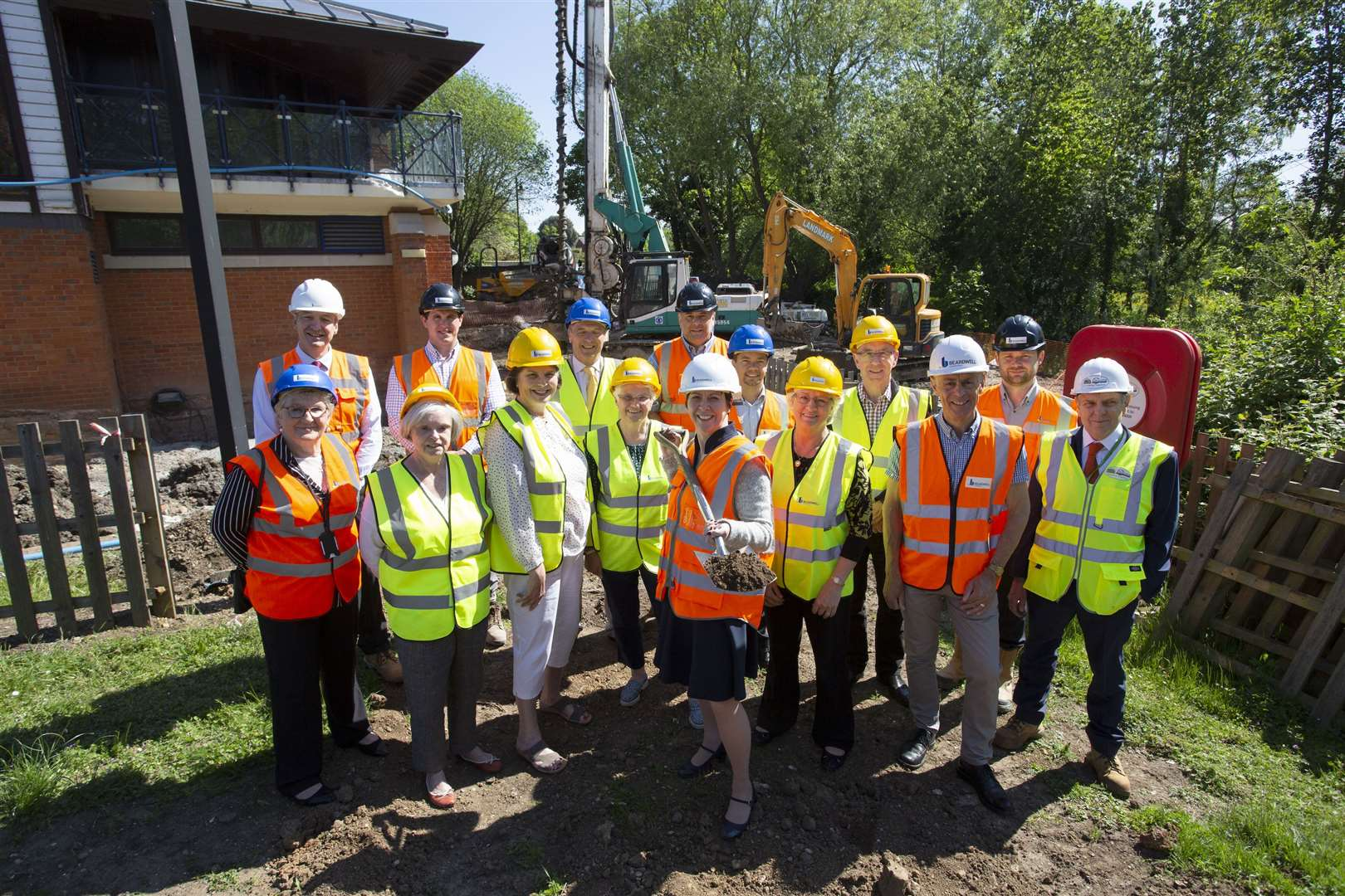 Ground-breaking ceremony to mark the start of work on the £2.35m extension and refurbishment of Kingfisher Leisure Centre in Sudbury. Photo credit: Phil Morley. (11794743)