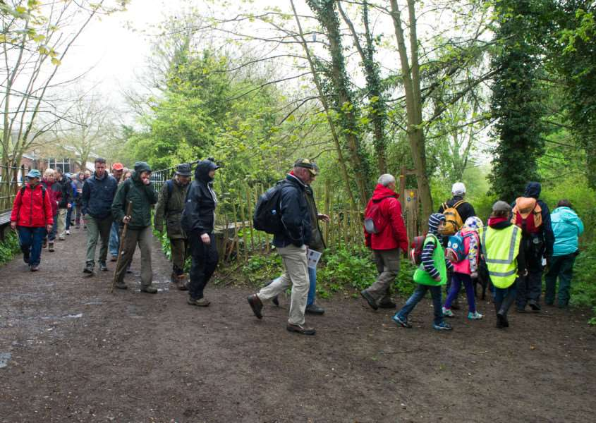 Magna Carta walk from Clare country park to Castle Hedingham ANL-150427-084634009