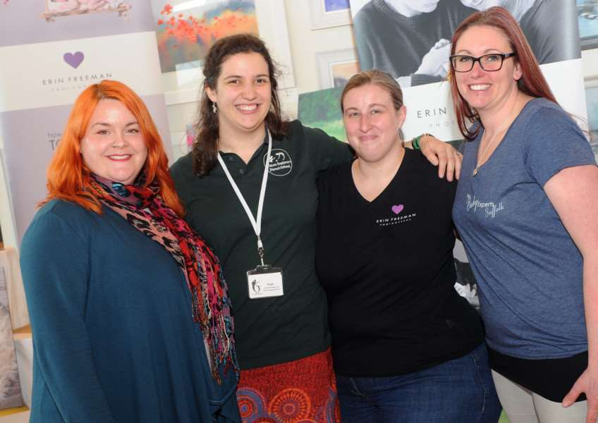 Suzanne Mildinhall, Steph Holland, Erin Freeman and Vicky Barbour-Andrews PICTURE: Mecha Morton