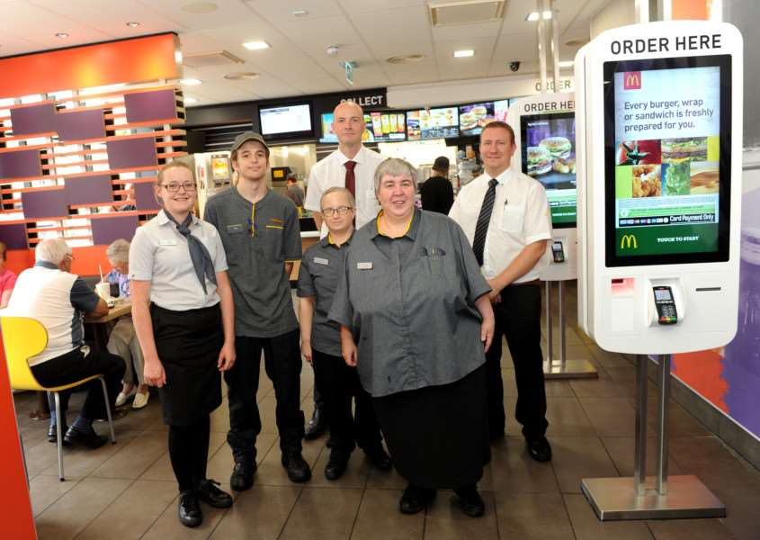 Staff at the new-look McDonald's in the centre of Bury St Edmunds