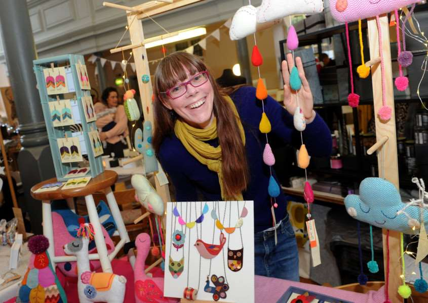 Cheryl Henry of Little Swift, with jewellery, bags and gifts