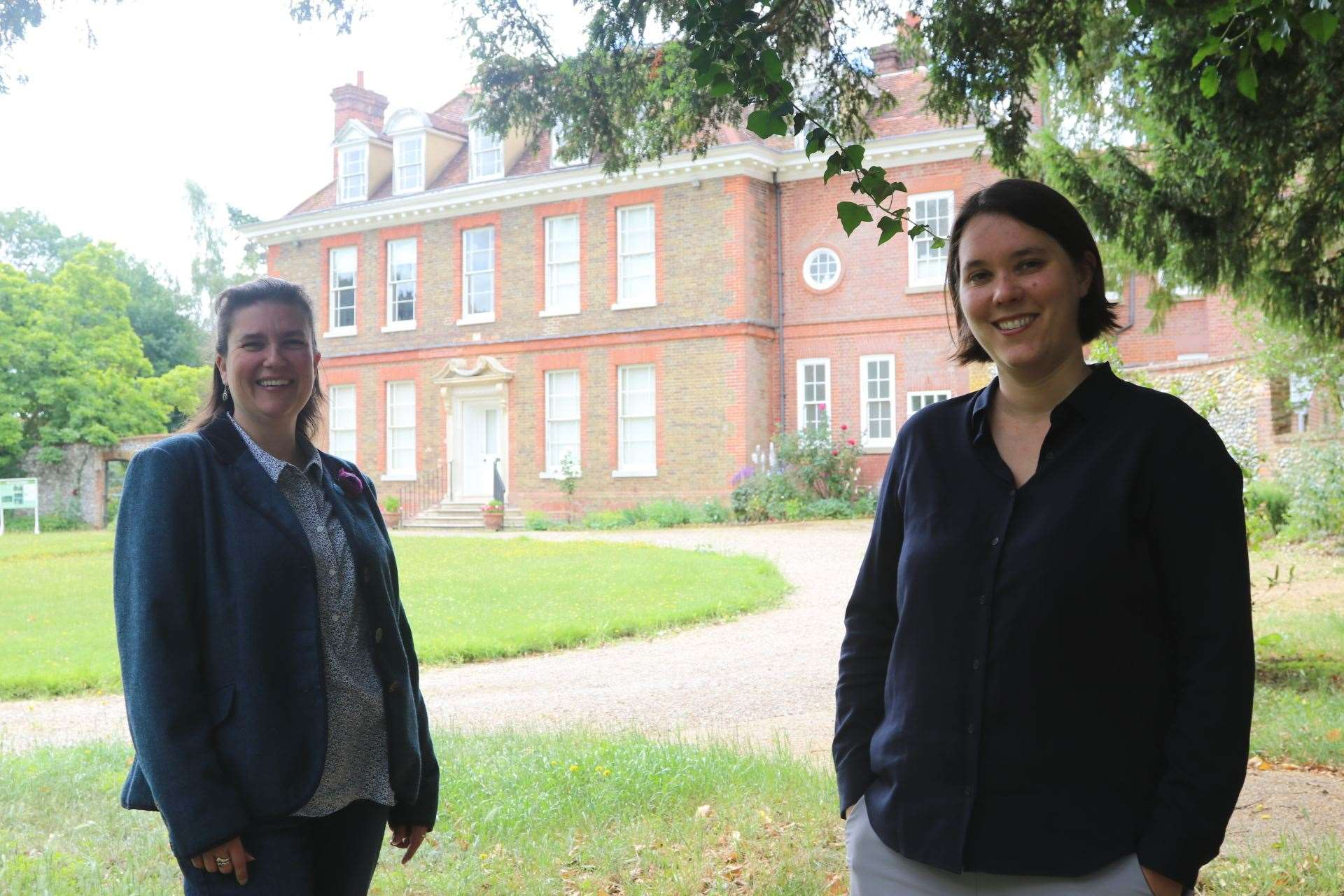 Curator Lisa Harris and director Jenny Cousins outside Abbots Hall at the Museum of East Anglian Life (42652767)