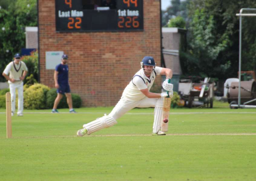 STANDING DOWN: Ben Shepperson (pictured batting for Suffolk against Bedfordshire)