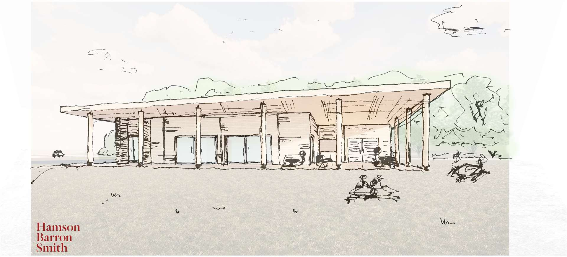 Artist impression of what the visitor centre could look like.Credit: Hamson Barron Smith (18206700)