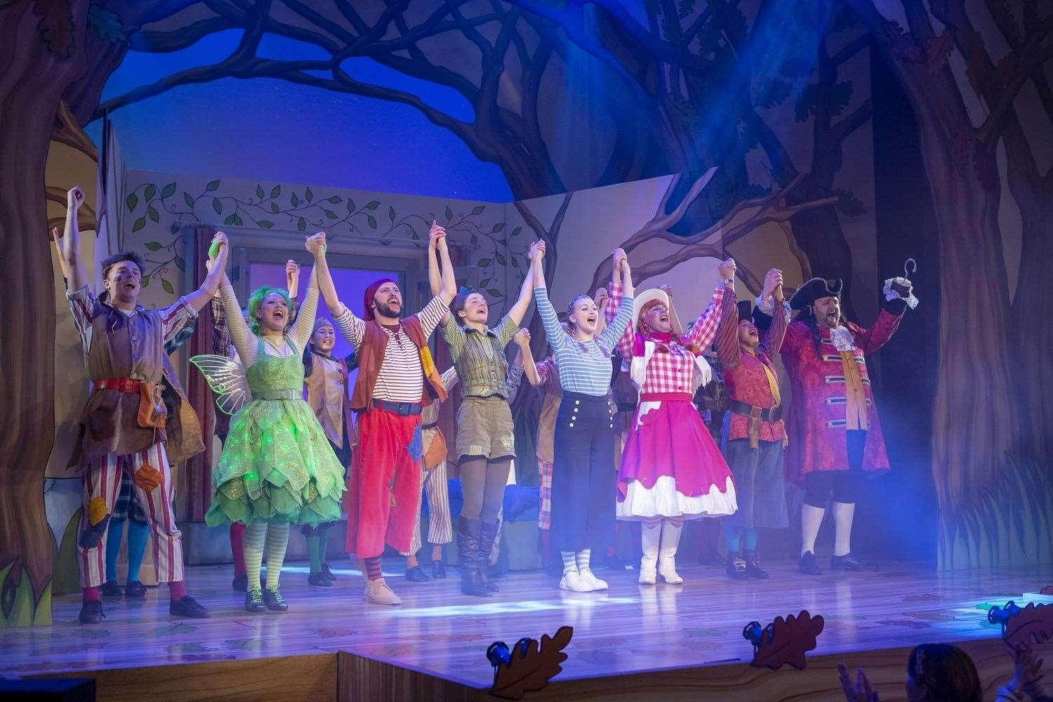 Pantomime Peter Pan at Theatre Royal Bury St Edmunds, which stages an annual festive show. Picture by Aaron Weight