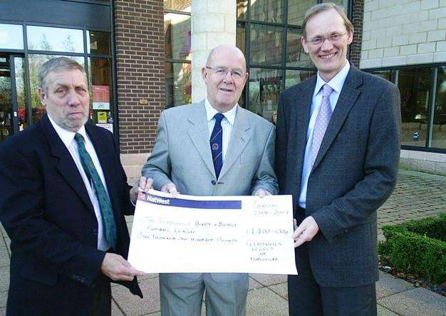 DESPERATE TIMES: From left: Roger Cox (league chairman), Peter Utting (honorary vice-president and life member) and Paul Glasswell (sponsor)
