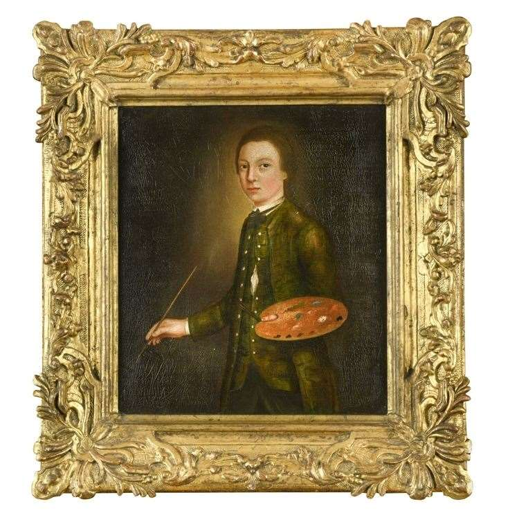 Thomas Gainsborough is thought to have created the self-portrait aged 13 in 1740. Picture:Cheffins/PA