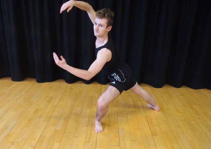 Joey Hogger, 17, has gained a place at the Rambert School of Ballet and Contemporary Dance, ANL-160119-171401001