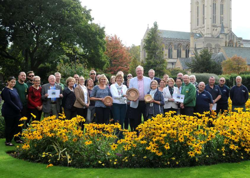 Bury St Edmunds has won best overall entry, the Anglia in Bloom trophy, won the large town category with a gold as well as a gold for the Abbey Gardens and Nowton Park.''''Picture: Mecha Morton