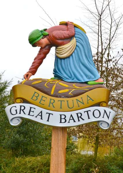 Great Barton's village sign
