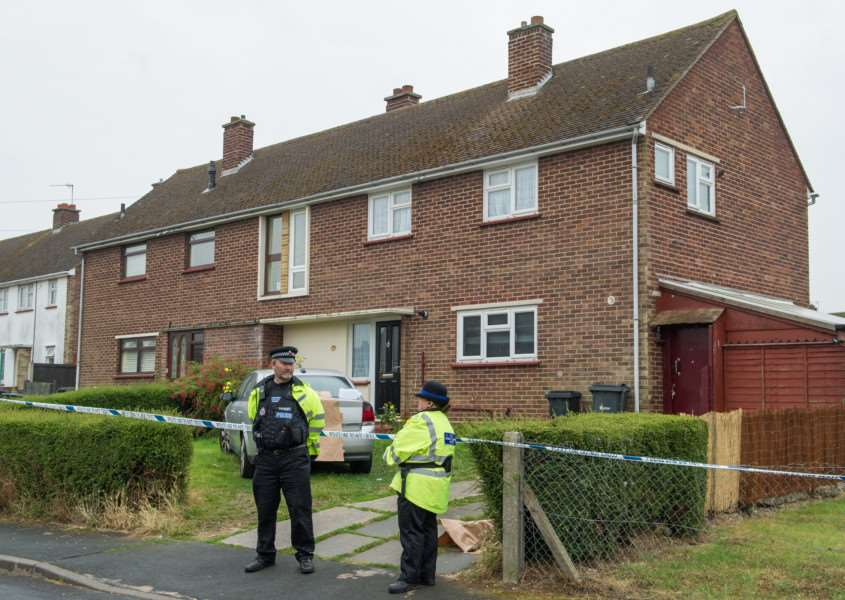 "The scene at a house in Halstead Essex where a 3 year old boy was killed by a dog.See Masons copy MNBITE: The boy who died after being bitten by a dog was three-years-old, police have confirmed. He was airlifted to Addenbrooke's Hospital in Cambridge, Cambs., where he died from his injuries. An Essex Police spokesman said: ""The boy, who is aged 3, was taken to hospital where he sadly died from his injuries. . ANL-160819-114850001"