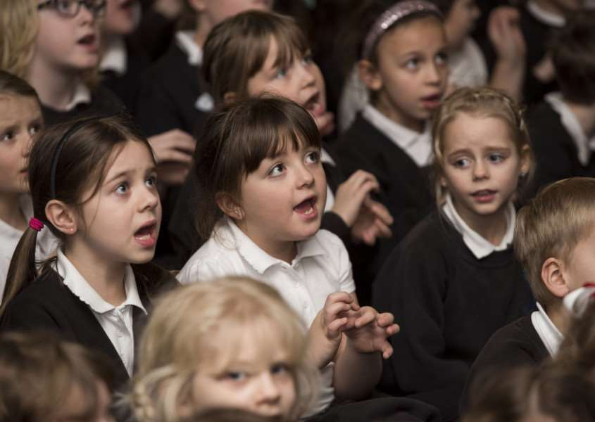The 'sign2sing' event at Westgate Primary School in Bury St Edmunds.