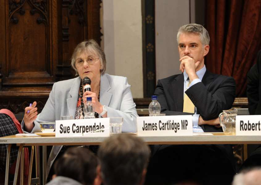 Suffolk Free Press EU referendum debate''Pictured: Sue Carpendale ANL-160606-093159009