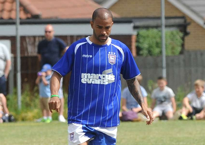 BACK IN TOWN: Kieron Dyer is set to line up in the annual Ipswich Town Legends charity football match at Bury Town's Ram Meadow