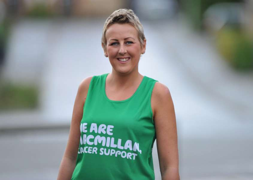 Bianca Carpenter is running the Ipswich half marathon a year after being diagnosed with breast cancer last year. ANL-150109-160209009