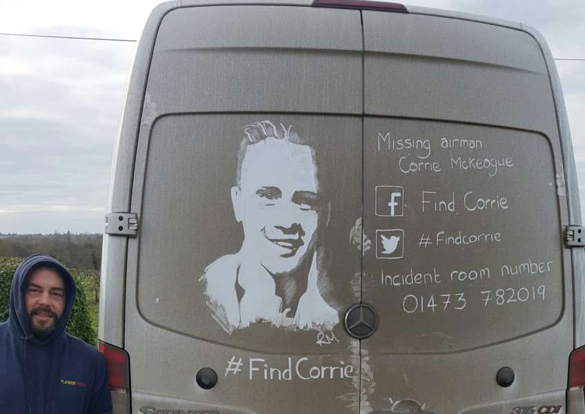 Rick Minns, known as Ruddy Muddy has unveiled an image to help find Corrie.