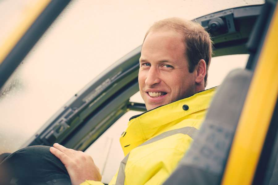 Prince William works 80 hours a month with the East Anglian Air Ambulance. Ben Bull Photography