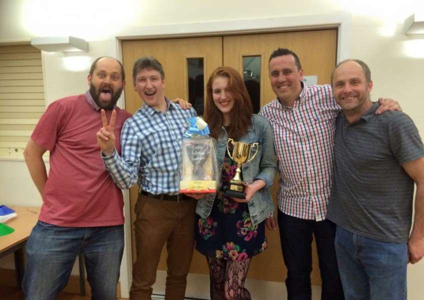 Brain box, the winners of the quiz held to raise funds for the Emma Holloway Foundation.