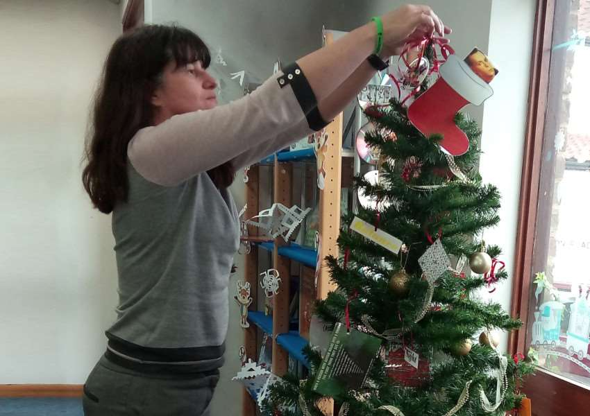 Norfolk and Suffolk NHS Foundation Trust's Suffolk Autism Diagnostic Service has decorated a Christmas tree, which is on display as part of the Stowmarket Christmas Tree Festival