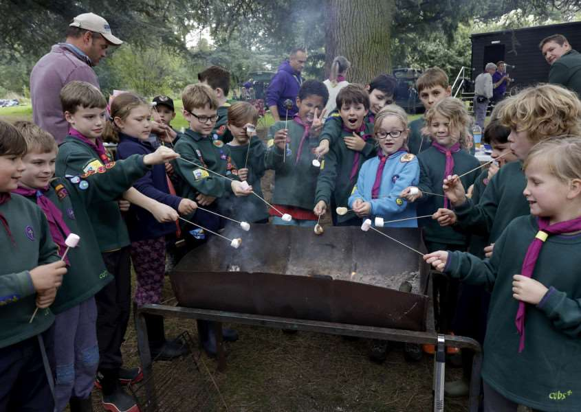 Bradfield, Suffolk. Suffolk Cubs at the Bradfield Scout Campsite ''Picture: MARK BULLIMORE ANL-160810-224043009