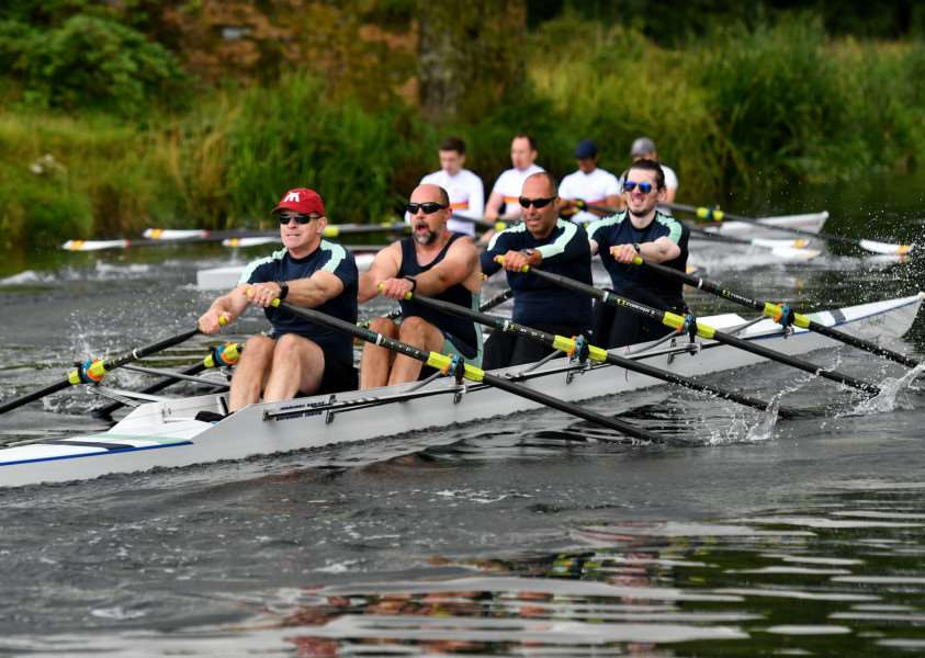 TEAM EFFORT: Isle of Ely Rowing Club's Men's Quad compete on the River Stour