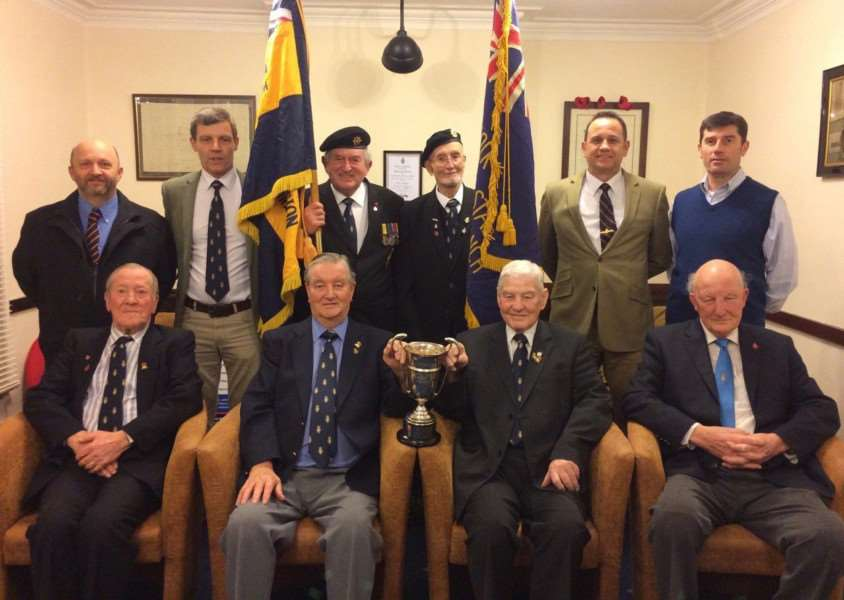 Hadleigh Royal British Legion Branch won the Suffolk County Proficiency Cup awarded to the best large branch in the county for 2016