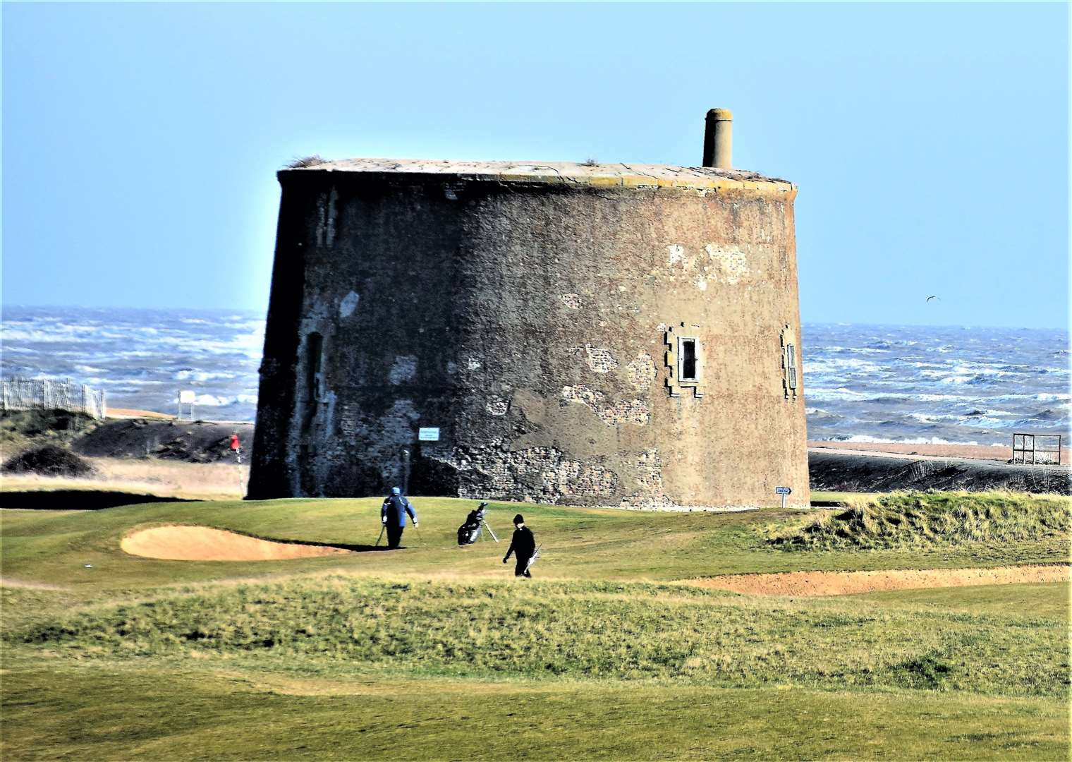 Felixstowe Ferry Golf Club's iconic Martello Tower.