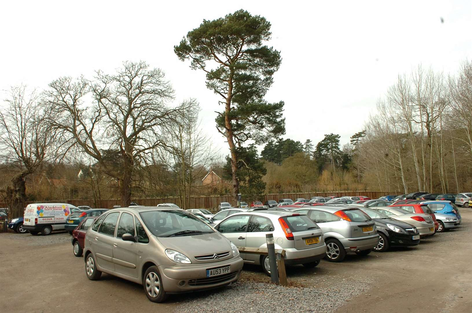 The car park at West Suffolk Hospital