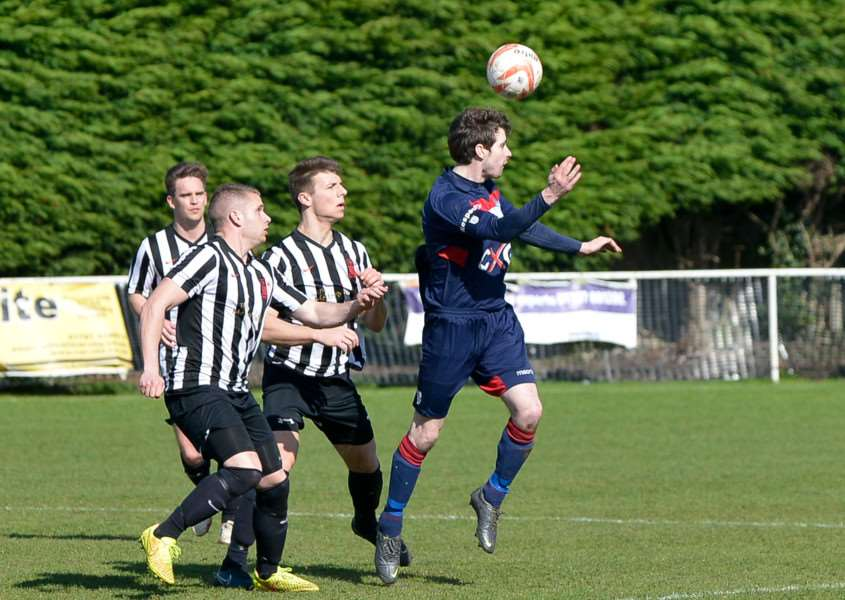 Haverhill Borough skipper Ryan Weaver came closest to scoring during their 1-0 defeat at Halstead Town